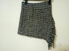シャネル スカート サイズ40 M レディース 白×ネイビー×黒
