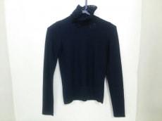 シャネル 長袖セーター サイズ34 S レディース 黒 ハイネック/リボン
