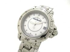 モンブラン 腕時計 美品 7036 ボーイズ シェルホワイト