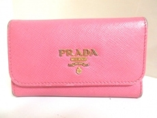プラダ キーケース - ピンク 6連フック レザー PRADA