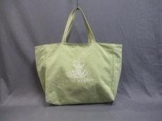 ジェーンマープル トートバッグ ライトグリーン 刺繍 キャンバス
