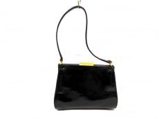 グッチ ハンドバッグ - - 黒 ミニサイズ エナメル(レザー)