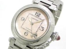 カルティエ 腕時計 パシャC GMT W3107099 メンズ ピンク