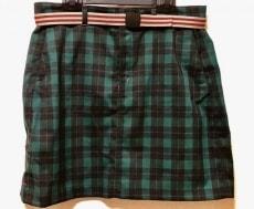 コロンビア スカート サイズL レディース 新品同様 グリーン×黒