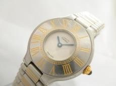 カルティエ 腕時計 マスト21SM W10073R6 レディース アイボリー