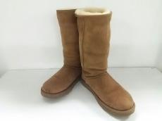 UGG(アグ) ブーツ 24 レディース美品  ライトブラウン ムートン