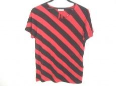 サンローランパリ 半袖Tシャツ サイズXS レディース美品  レッド×黒