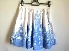 チェスティ スカート サイズ1 S レディース美品  白×ライトブルー