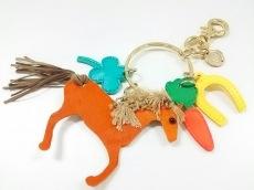 ミュベール キーホルダー(チャーム) 美品 ゴールド×マルチ 馬