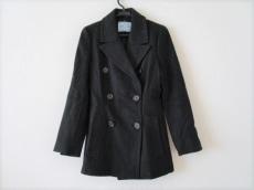 プラダ コート サイズ40 M レディース 黒 肩パッド/冬物 PRADA