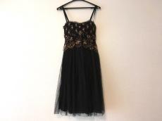 パオラ フラーニ ドレス サイズ40(I) M レディース 黒×ブラウン