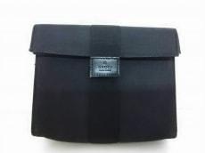 グッチ ポーチ - 0390991 黒 ジャガード GUCCI