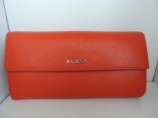 FURLA(フルラ) 長財布 オレンジ レザー