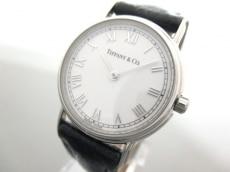 ティファニー 腕時計 L.251 レディース 革ベルト アイボリー