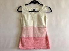 レディ ノースリーブカットソー サイズF レディース美品  白×ピンク