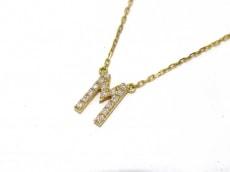 アーカー ネックレス 美品 K18YG×ダイヤモンド AHKAH