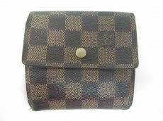 ルイヴィトン Wホック財布 ダミエ N61652 エベヌ LOUIS VUITTON