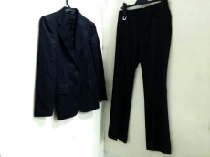 グッチ レディースパンツスーツ サイズ40 M レディース 黒×グレー