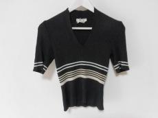 CELINE(セリーヌ) 半袖セーター サイズ40 M レディース美品  黒×白