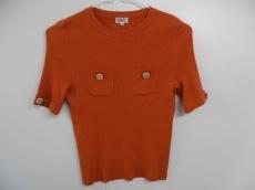 フォクシー 半袖セーター サイズ40 M レディース オレンジ FOXEY