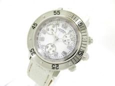 エルメス 腕時計 クリッパーダイバークロノ CL2.310 レディース 白