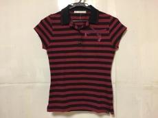 ロアー 半袖ポロシャツ サイズ2 M レディース レッド×黒 ボーダー