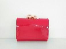 テッドベイカー 3つ折り財布 美品 ピンク がま口 TED BAKER