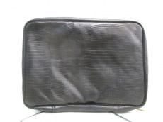 LANCETTI(ランチェッティ) バッグ 黒 型押し加工 レザー