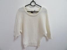 レディ 七分袖セーター サイズF レディース 美品 アイボリー