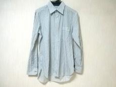 ランバンオンブルー 長袖シャツ サイズ48 XL メンズ 白×ブルー