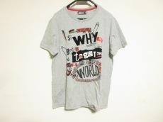 デシグアル 半袖Tシャツ サイズXL レディース グレー×黒×マルチ