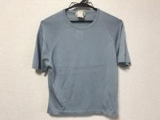 エルメス 半袖セーター サイズM レディース ライトブルー シルク