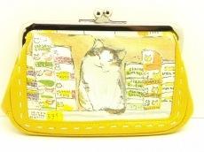 マンハッタナーズ 財布 美品 猫柄/がま口/Petit Peche レザー