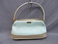 GUCCI(グッチ) ハンドバッグ - 03911330 ライトブルー×ゴールド