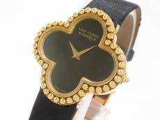 VCA/ヴァンクリ 腕時計 ヴィンテージアルハンブラ 136374 黒