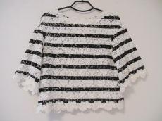 MUVEIL(ミュベール) 七分袖カットソー サイズ38 M レディース 白×黒