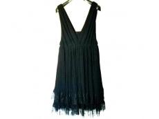 グレースクラス ドレス サイズ36 S レディース 黒 プリーツ/レース