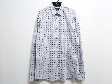 ヴィクター&ロルフ 長袖シャツ サイズ48 XL メンズ 白×ネイビー×黒
