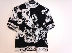 レオナール 半袖カットソー サイズL レディース 黒×白 花柄