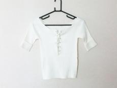 リリーブラウン 半袖セーター サイズF レディース美品  アイボリー