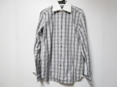 トムフォード 長袖シャツ サイズ40 M メンズ グレー×白×黒