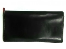 WhitehouseCox(ホワイトハウスコックス) 長財布 黒×レッド レザー