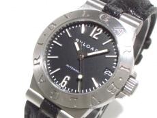 ブルガリ 腕時計 ディアゴノスポーツ LCV29S レディース 黒