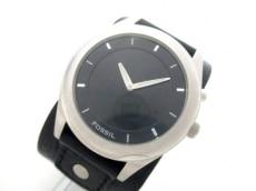 FOSSIL(フォッシル) 腕時計 JR-8621 メンズ 革ベルト 黒