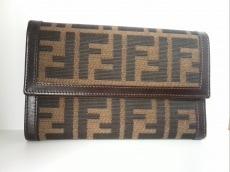 フェンディ 3つ折り財布 ズッカ柄 ナイロンジャガード×レザー