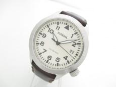 FOSSIL(フォッシル) 腕時計 AM-5414 メンズ 革ベルト アイボリー