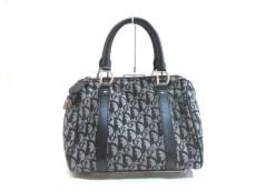 クリスチャンディオール ハンドバッグ - 黒×アイボリー