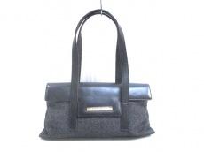 GUCCI(グッチ) ハンドバッグ - - 黒×ゴールド ハラコ×レザー