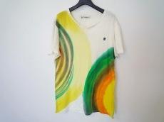 デシグアル 半袖Tシャツ サイズL レディース 白×イエロー×マルチ