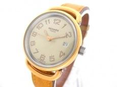 エルメス 腕時計美品  プルマン - レディース 革ベルト/〇M ベージュ
